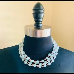 1950s Miriam Haskell Necklace Glass Beads